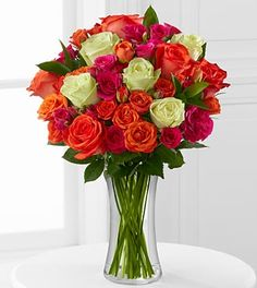 Summer Sunrise Rose Bouquet - 20 Stems