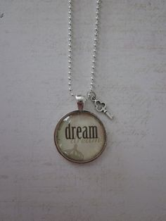Dream Glass Pendant Necklace With Silver Key by CharmedDesignsByJC, $14.99 Purchase at https://www.etsy.com/listing/111270015/dream-glass-pendant-necklace-with-silver
