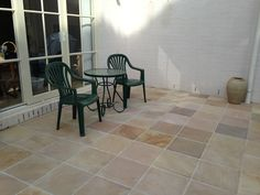 #Sandstone #pavers Pistachio 400x400mm with its pastel shades compliments this patio near the beach front at Mt. Eliza.