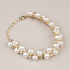 Pearl and Rhinestone Bracelet.