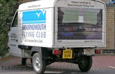 Piaggio Ape TM Van with custom graphics for Bournemouth Flying Club
