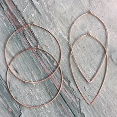 Simple Hoop Earrings by Rework Creative