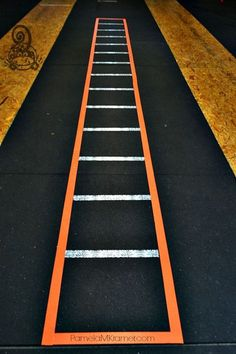 DIY Agility Ladder at Chalk Monkey Crossfit by @PamelaMKramer