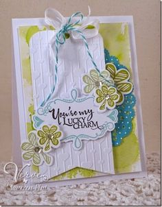 Maureen Plut: Buttons & Bling – Viva La Verve Hostess! - 3/13/15.  (Verve products).  (Pin#1: Tags...  Pin+: Holidays-Misc.).
