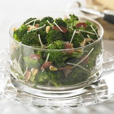 Broccoli, Bacon and Pine Nuts