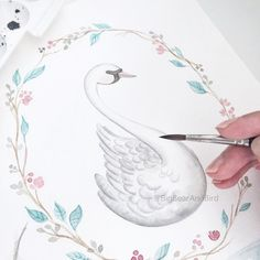 the graceful swan | logo illustration - work in progress |  #drawing#draw#art_we_inspire#arts_help#worldofartists#handpainted#watercolor#winsorandnewton@winsorandnewton#watercolour#illustration#waterblog#watercolorillustration#illustrationartists#bigbearandbird#cute#instagram#artoftheday#diy#craftsposure#swan#logoillustration
