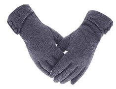 Women's Touch Screen Gloves Lined Thick Wind Proof Warm Winter Glove - Gray - - Women's Accessories, Gloves & Mittens, Cold Weather Gloves # # Best Winter Gloves, Warmest Winter Gloves, Lila Outfits, Velvet Glove, Fashion Pattern, Cashmere Gloves, Cold Weather Gloves, Driving Gloves, Texting Gloves