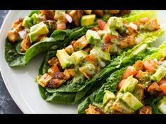 Lettuce wraps filled with spicy taco-spiced chicken, avocado, tomato, and drizzled with a zesty cilantro lime sauce. This healthy nutritious low-carb meal is a delicious protein packed option and great if you are on a low-carb, paleo or keto diet! Low-Carb Tacos!! If you're a fan of tacos but don't are watching you're