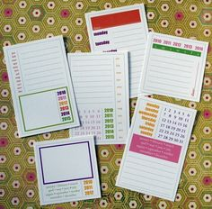 Calendar Journaling Tags - It's a Date. $5.00, via Etsy.