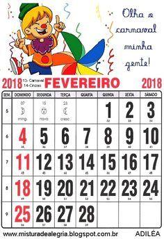Calendário Classroom Organization, Word Search, Words, Portugal, February Calendar, Kid Activities, Initials, Calendar 2018
