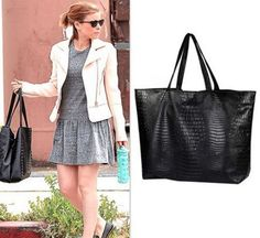 #KateMara rocking the Small Tote in Black Crocodile  Available with a Black, Nude, or Plaid Interior. #lenipenn #everythingtote #lptote #madeintheusa #madewithlove #vegan #buygive #makeadifference #womenwhoinspire #womeninbusiness #girlboss #celebstyle #streetstyle #womancrusheveryday
