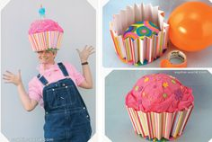 Great Craft and Costume Idea - Cupcake Hats on sophie-world.com #cupcake #hat #craft #DIY