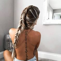 Lovely And Nice Spine Text Tattoo On Girl Back | Golfian.com