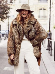 Free People Shaggy Faux Fox Fur Coat, €304.26
