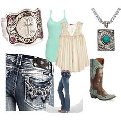 """western"" by danikaycomstock on Polyvore"