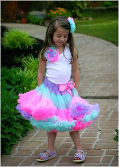 a colorful pettiskirt for the little one!