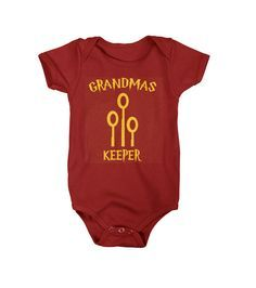From 4 Privet Drive to the Great Hall at Hogwarts your little one will look great in our Grandma's Keeper onesie. Pick up our Harry Potter collection, even a shirt for Mom, on your way to platform 9 3