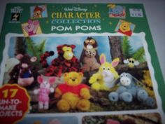 Walt Disney Character Collection  Pom Pom Animals ~ Pooh, Piglet, Bambi, Dumbo