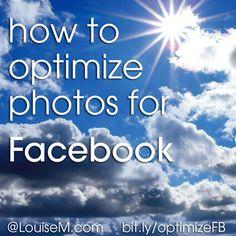 Facebook Marketing Tools, Marketing Articles, Social Media Marketing, Photos For Facebook, How To Use Facebook, Facebook Image, Photography Website, Photography Tutorials, Photography Tips