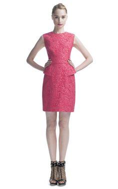 Jason Wu Ss Jewelneck Peplum Sheath in Pink | Lyst