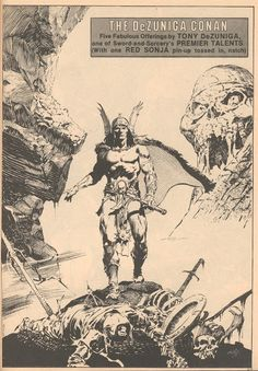"""Diversions of the Groovy Kind: Black and White Wednesday: """"The DeZuniga Conan"""""""