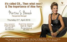 Training @ Tecom Product Center by MARTINA ~ Recognized Manager Thursday 21st, April 2016  Day session ~ It's called C9...Then what next? 11am to 2pm Evening session ~The importance of Aloe Vera. 7pm to 10pm