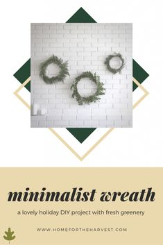 Minimalist Wreath Tutorial with Fresh Holiday Greenery - Home for the Harvest - How to make a simple scandi Christmas or holiday wreath with lovely evergreen branches or rosemary (easy diy christmas craft project) Cute Christmas Decorations, Christmas Greenery, Christmas Ideas, Natural Christmas, Scandi Christmas, Wreath Tutorial, Diy Wreath, Holiday Wreaths, Festive Crafts
