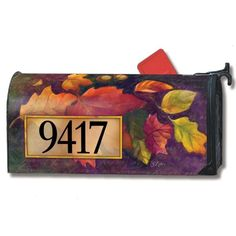 Addressable Magnetic Mailbox Cover - Turning Leaves