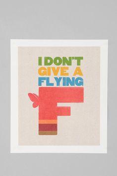Sammy Slabbinck & D Cassaro For Society6 Flying F Print  #UrbanOutfitters