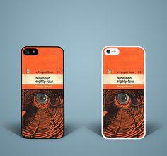 1984 Novel Vintage Books George Orwell Retro Dystopian Phone case covers BA282