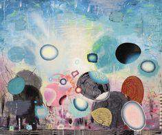 Matías Krahn. Futuros posibles, realidades abiertas. Óleo sobre tela, 162x195 cm.