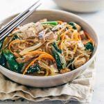 Japchae Korean Glass Noodles with Tofu