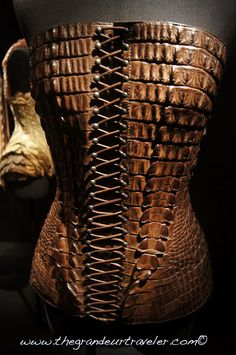 Jean Paul Gaultier Crocodile corset.  I've seen this in person and it is amazing!