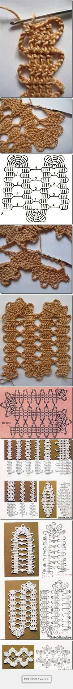 Crochet Bruges Lace How To loads of variations and photo tutorials