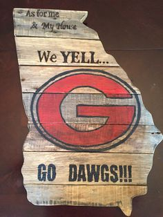 Georgia State Wood Pallet Sign