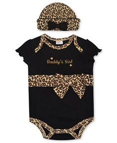 Baby Essentials Baby Set, Baby Girls Leopard Creeper and Hat - Kids Newborn Shop - Macys