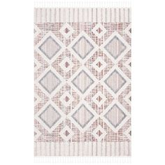 SAFAVIEH Marrakech Bohemian & Eclectic Oriental Grey/Multi Polyester Rug - Overstock - 27982963 Grey Rugs, Beige Area Rugs, Polyester Rugs, Moroccan Design, Moroccan Rugs, Natural Area Rugs, Light Blue Area Rug, Rug Material, Threading