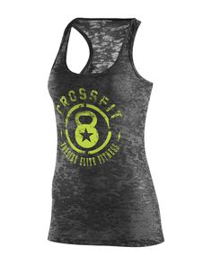 CrossFit HQ Store- WOD Star Tank - Charged Green Buy Authentic CrossFit T-Shirts, CrossFit Gear, Accessories and Clothing