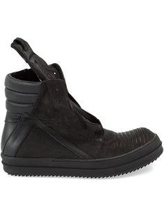 f630daa43 Rick Owens Lizard Skin Hi-top Sneakers - L eclaireur - Farfetch.com