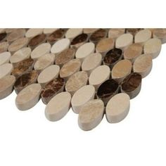 Splashback Tile Orbit Woodland Ovals Mosaic Floor and Wall - 3 in. x 6 in. Tile Sample-L4C10 MARBLE TILE at The Home Depot