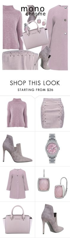 """""""one color, head to toe"""" by maria-maldonado ❤ liked on Polyvore featuring Topshop, WithChic, Kendall + Kylie, Rolex, navabi, MICHAEL Michael Kors and monochrome"""