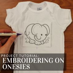Master embroidering on onesies with tips and tricks on hooping, stabilizer, and more -- tutorial from Embroidery Library.