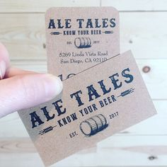 Yay! Business and Promo cards came in today!!! 👍🏻 #AleTalesSD #AleTales #KnowYourBeer #SanDiego #SanDiegoBeer #LindaVista #DrinkSD #IndieBeer  #DrinkIndieBeer #IndependentBeer #CraftBeer #DrinkCraftBeer #BeerMe #InstaBeer #BeerGram #sandiego #sandiegoconnection #sdlocals #sandiegolocals - posted by Ale Tales ((Opening Soon)) https://www.instagram.com/aletalessd. See more San Diego Beer at http://sdconnection.com