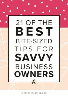 Imagine having an amazing set of tips to help you run your business, right at your fingertips. You know they're always there when you need them and more importantly, you know they work. Well, that's exactly what you're going to get right now.   If you're reading this as a savvy business owner, then you'll…