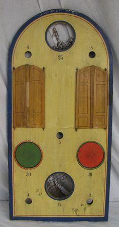 Vintage Mechanical Bean Bag Toss Game