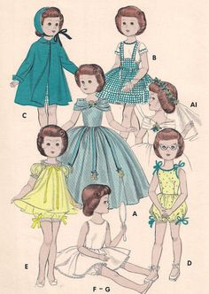 ORIGINAL Butterick 7974 SWEET SUE Doll Wardrobe by PatternsOfYore