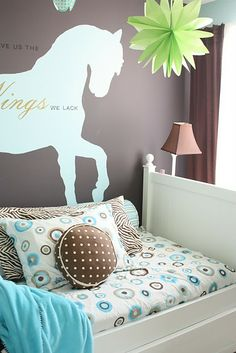 @Jaime Lackey - here's a great room that combines choc brown and soft blue