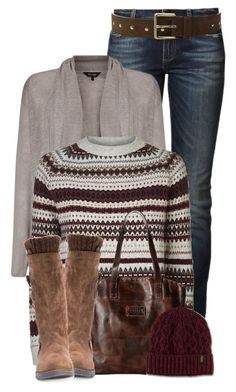 """Fair Isle Jumper~ January Begins!"" by colierollers ❤ liked on Polyvore featuring True Religion, Phase Eight, Barbour, Bed