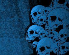 Blue Vector Skulls wallpaper from Skulls wallpapers