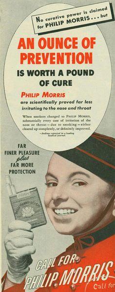 ¡Prevención! 30 sorprendentes anuncios de tabaco de la época de 'Mad Men'